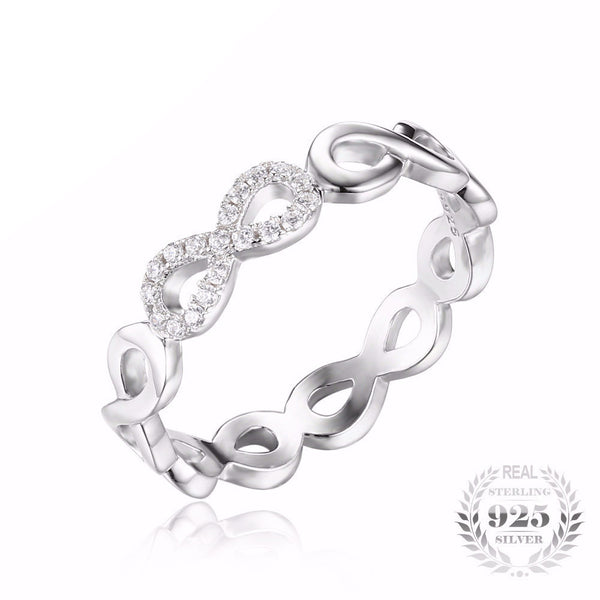 Silver Fine Infinity Love Promise Ring for Women - AskyJewelry.com