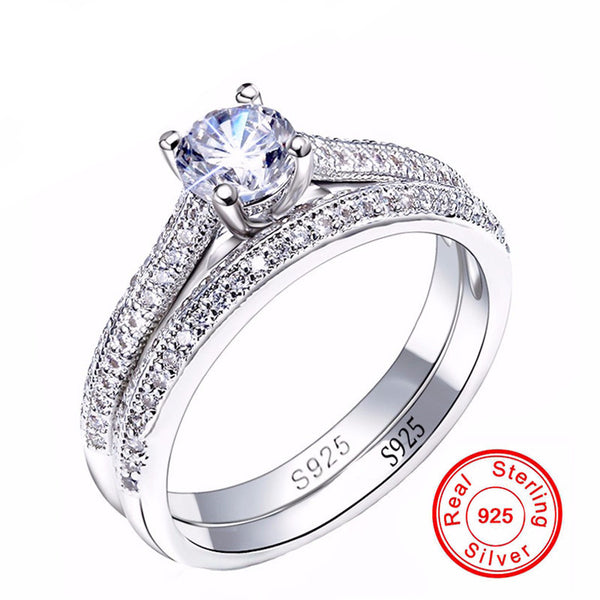 Brilliant and Elegant Couple Engagement Ring for Women - AskyJewelry.com