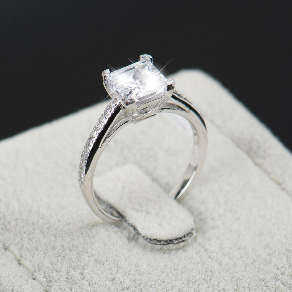 Cubic Zirconia Giant Engagement Ring
