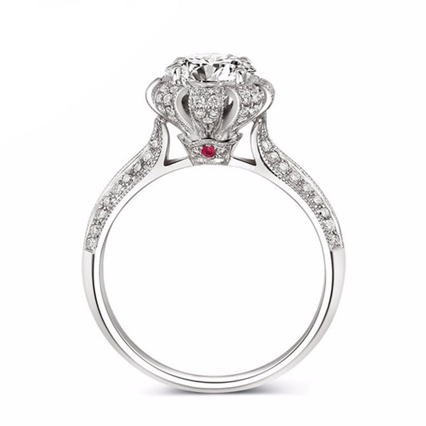 Luxury Princess Silver Ring - AskyJewelry.com
