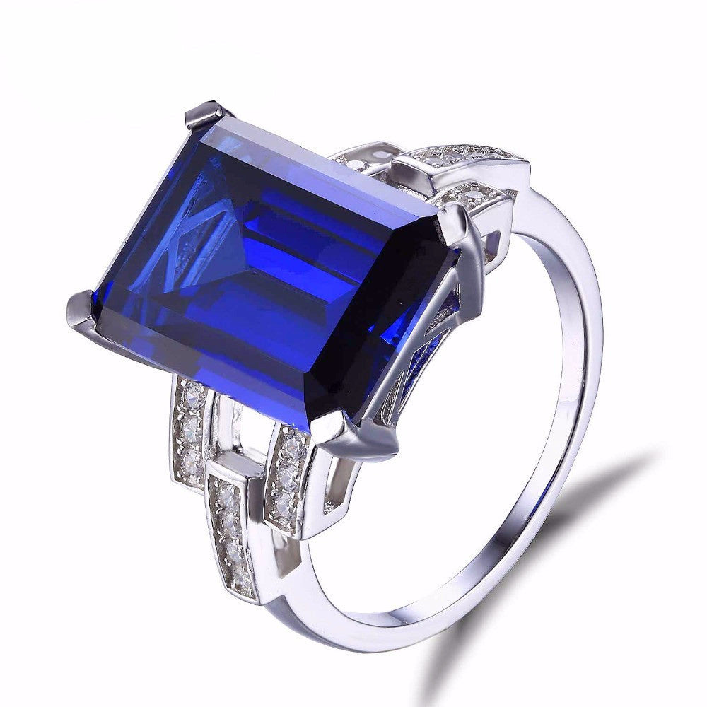 7119cff84 Giant Luxury Emerald Blue Sapphire Ring – Asky Jewelry