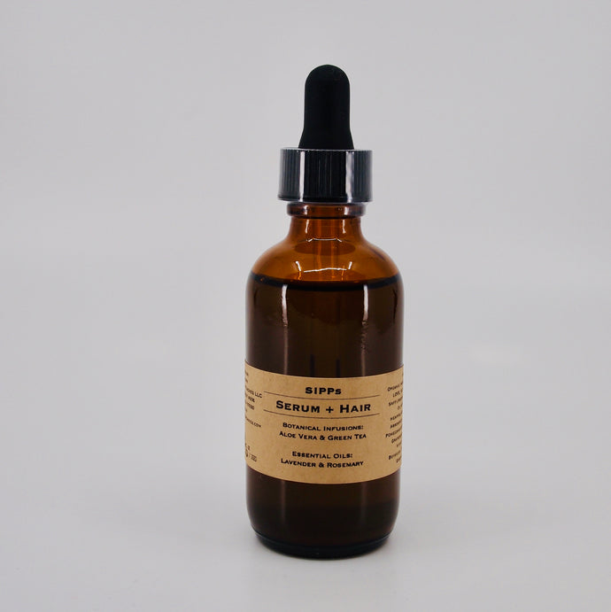 SIPPorganics Botanical Serum + Hair, Scalp & Beard | Infused with Aloe Vera & Green Tea