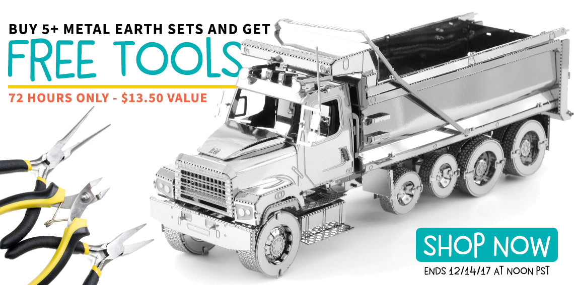 Free Tool Kit when you buy 5+ Metal Earth Sets