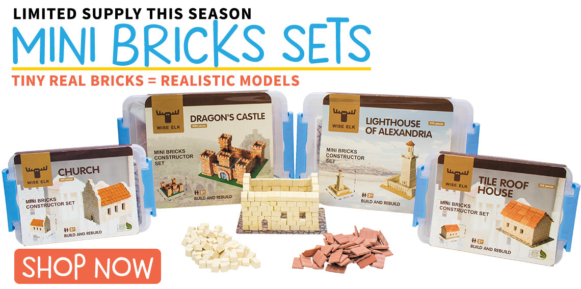 Wise Elk - MiniBricks. Available now, but supplies are limited.