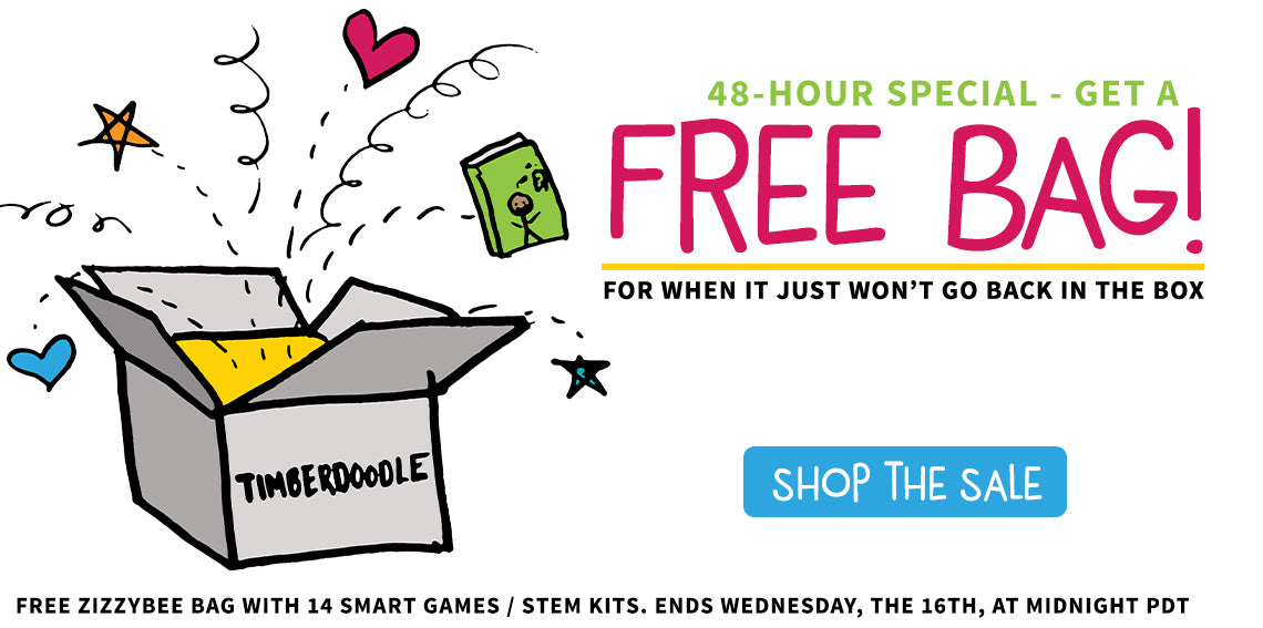 48 Hours Only! Free Zizzybee Bag with Smart Games, Plus Plus or ThinkPlay