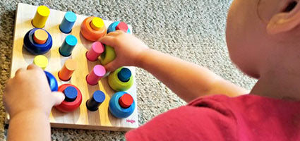 Haba Palette of Pegs Review by Hopkins Homeschool