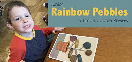 Earth Tones Junior Rainbow Pebbles Review by Flanders Family Home Life