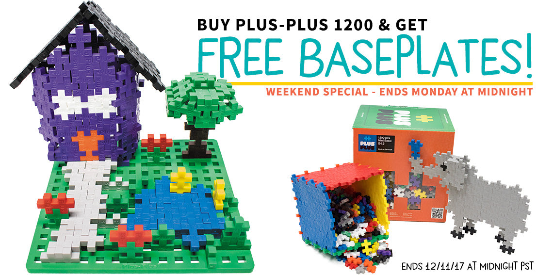 Free Baseplates with Plus Plus