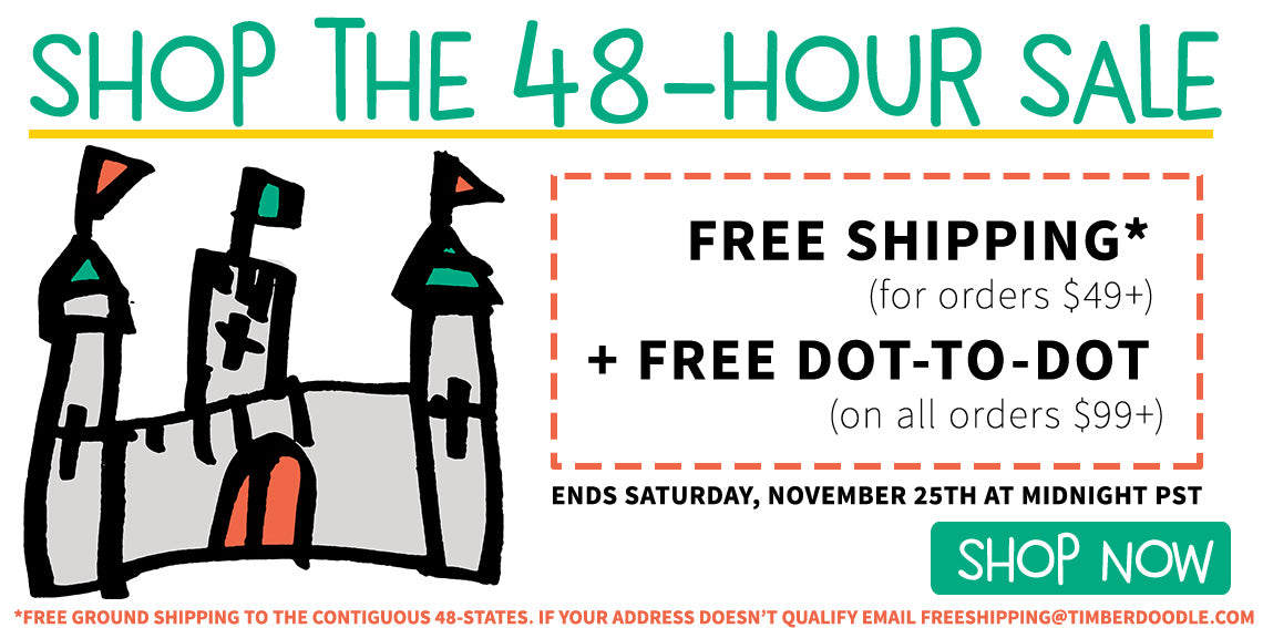 2 Day Sale! Free Shipping over $49 + Free Dot-to-Dot on orders over $99