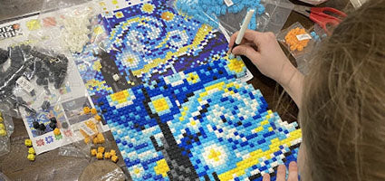 Starry Night Pixel Puzzle Review by Homeschool Happenings