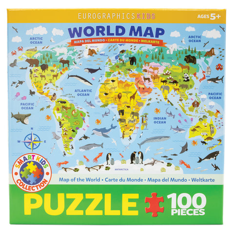 Kids World Map Puzzle 100