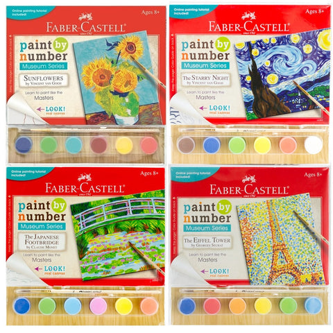 Paint-by-Number Museum Series - set of 4