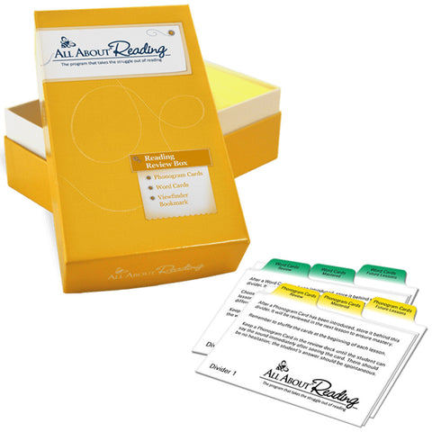All About Reading Review Box & Divider Cards