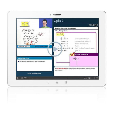 Thinkwell Algebra 2 - 12 Month Subscription