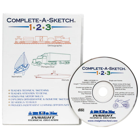 Complete-A-Sketch 123-CD