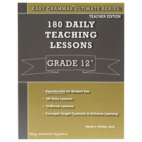 Easy Grammar Ultimate Grade 12 Teacher's Guide