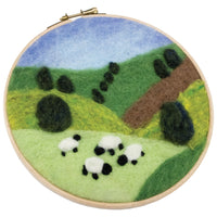 Grazing Sheep Needle Felting Kit Deluxe with Foam Mat