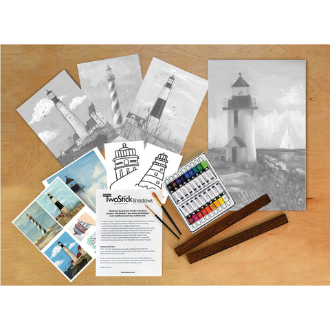 TwoStick Shadows Paint Kit: Lighthouses