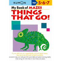 Kumon My Book of Mazes: Things That Go