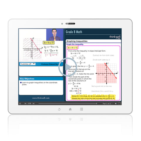 Thinkwell Grade 8/Pre-Algebra - 12-Month Subscription