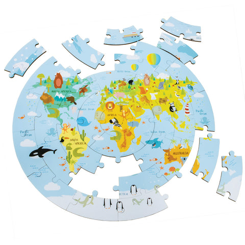 Wooden World Map Puzzle