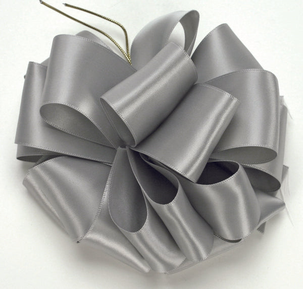 Silver Double Face Satin Ribbon