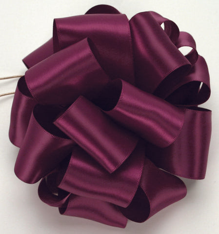 Wine Double Face Satin Ribbon
