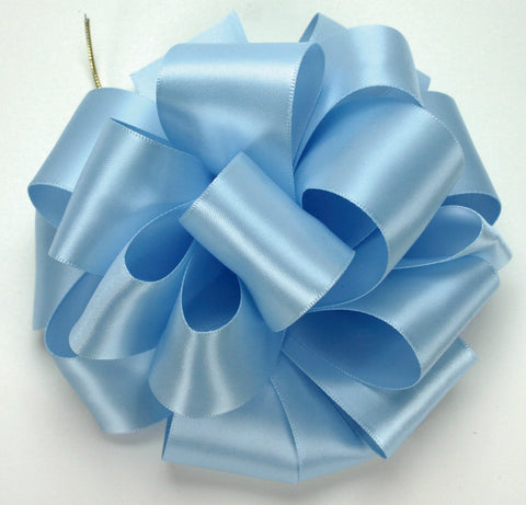 Light Blue Double Face Satin Ribbon