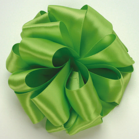 Chartreuse Double Face Satin Ribbon