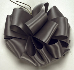 Pewter Double Face Satin Ribbon