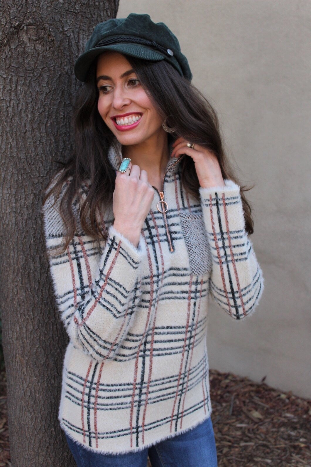 Kristy Plaid Pullover Sweater