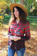 Dakota Plaid Headdress Top