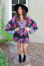 Farrah Floral Print Medallion Dress