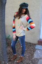 Caroline Striped Sleeve Top