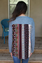 Marin Mixed Print Back Top