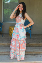 Olivia Mixed Print Tiered Maxi Dress