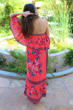Lina Off The Shoulder Floral Print Maxi Dress