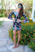 Layal Floral Print Off The Shoulder Dress