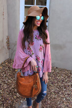 Brittany Floral Print Bell Sleeves Top