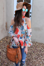 Freya Floral Print Cold Shoulder Top