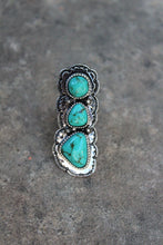 Demi Three Stone Turquoise Ring