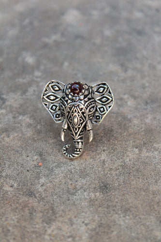 Aditya Adjustable Elephant Filigree Statement Ring