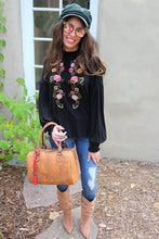 Magnolia Floral Embroidered Top