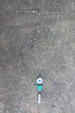Bella Turquoise & Crystal Pendant Necklace