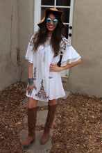 Blair Floral Embroidered Bell Sleeve Dress