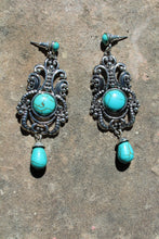 Lomasi Semi Precious Stone Turquoise Earrings