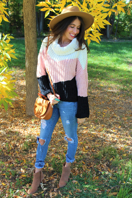 Laura Color Block Sweater