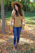 Selena Floral Embroidered Sleeve Sweater
