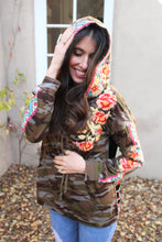 Ariana Embroidered Camo Hoodie Sweater