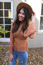 Amber Lace Peplum Top